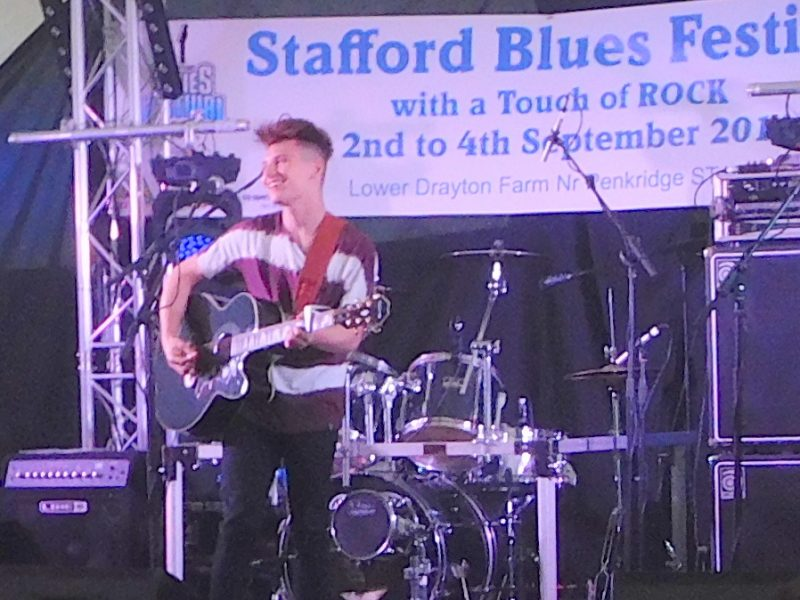 Stuart Woolfenden, youngest artist on the bill