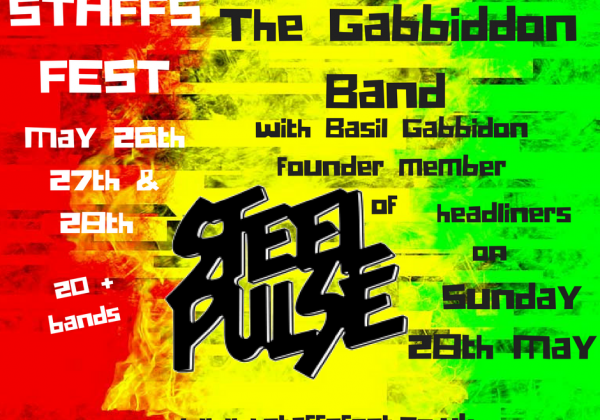 (Basil) Gabbidon Band – Founder Member of Steel Pulse Sunday 28th at Staffs Fest