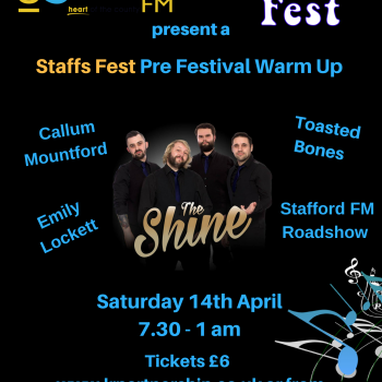 Staffs Fest Warm Up – Sat 14th April