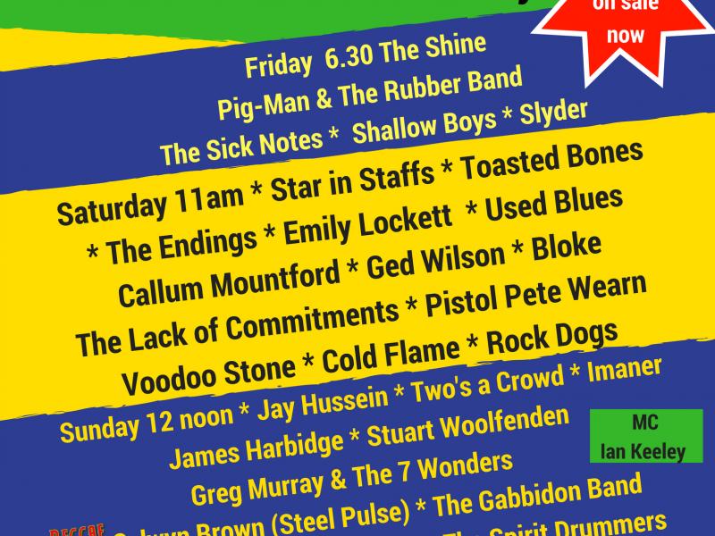 Staffs Fest – The Line Up