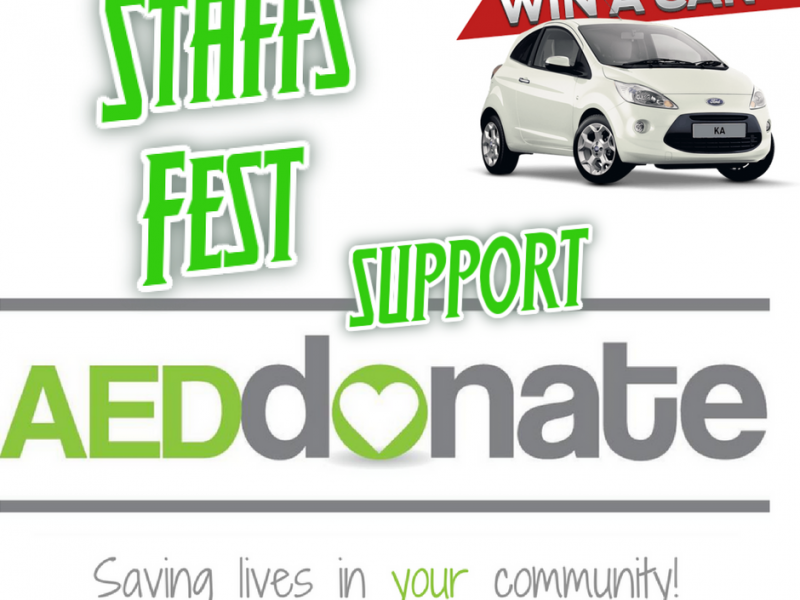 AED Donate at Staffs Fest