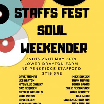 Staffs Fest Soul Weekender 25th & 26th May