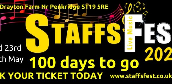 100 days to go until Staffs Fest 2020