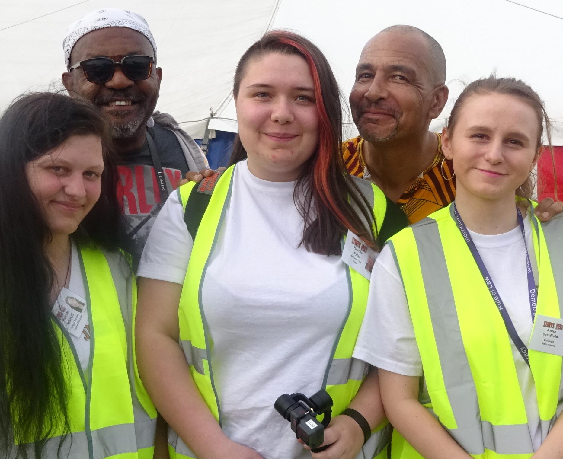 College-media-students-with-Basil-Gabbidon-Rocky-Amoo