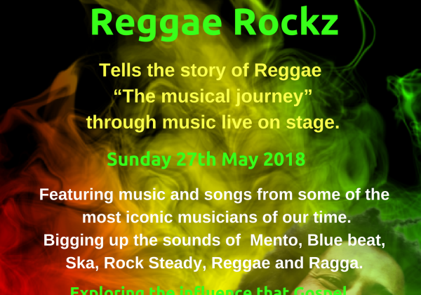 Reggae Rockz The History of Reggae (from Africa to the UK) at Staffs Fest