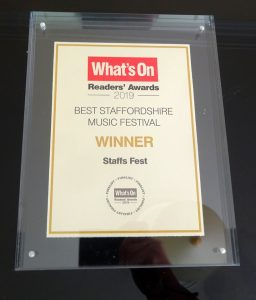 Voted Staffordshire's Best Music Festival
