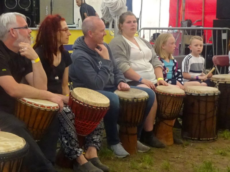 Staffs Fest Coummunity Drummers lead by Rocky Amoo