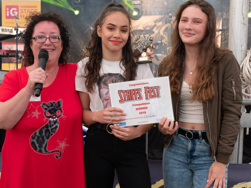 Star In Staffs Winners Ruby Johnson and Georgie Sullivan ( Lorraine Conkey)