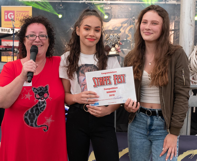 Star In Staffs Winners Ruby Johnson and Georgie Sullivan ( Lorraine Conkey)
