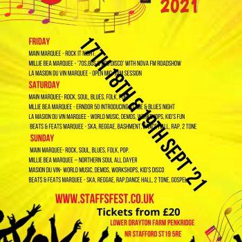 Staffs Fest now September 2021